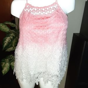 Lace ombre tank